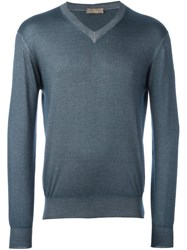 Cruciani V Neck Sweater Grey