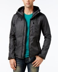 Superdry Men's Windtrekker Soft Shell Hooded Coat Matte Black Marl Matte Black