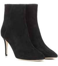 Jimmy Choo Duke 85 Suede Ankle Boots Black