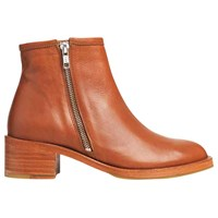 Air And Grace Coachella Block Heeled Ankle Boots Brown