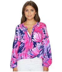 Lilly Pulitzer Kalissa Knit Tunic Blue Paradise Point Reduced Blouse Multi