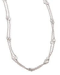 Cubic Zirconia By The Yard Necklace 72'L Fantasia By Deserio Silver