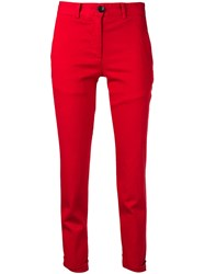 Paul Smith Ps Cropped Slim Fit Trousers Red