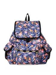 Le Sport Sac Rifle Paper Co. X Lesportsac Voyager Backpack Rosa