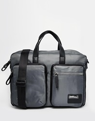 Diesel Crash Briefcase Bag Grey