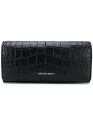 Alexander Mcqueen Monogram Wallet Women Leather One Size Black