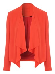 Jane Norman Chiffon Waterfall Jacket Orange