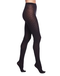 Wolford Alin Dot Knit Patterned Tights Black