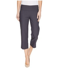Tribal Stretch Bengaline 22 Flatten It Pull On Capris Carbon Women's Casual Pants Gray