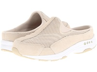 Easy Spirit Traveltime Light Natural Suede White Women's Clog Shoes Beige