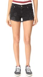 Rta Olivia Denim Shorts Ash Destroyed