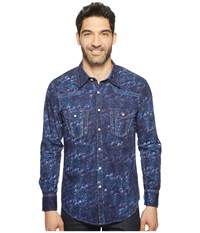 Rock And Roll Cowboy Long Sleeve Snap B2s1255 Blue Men's Clothing