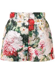Dolce And Gabbana Floral Print Shorts Green