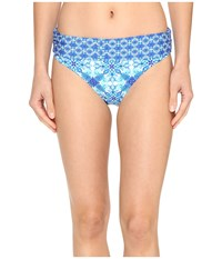 Lablanca True Shirred Band Hipster Bottom Crystal Blue Women's Swimwear