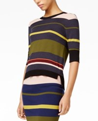 Rachel Roy Tie Back Striped Top Only At Macy's Blue Zephryr Combo