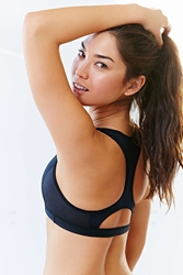 Without Walls Keyhole Racerback Sports Bra Black