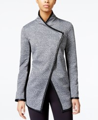 Rachel Rachel Roy Quilted Faux Leather Trim Jacket Dark Gray