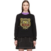 Kenzo Black And Red Tiger Sweatshirt