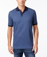 Tasso Elba Men's Houndstooth Polo Only At Macy's Totem Blue Combo