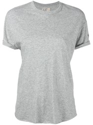 Sandrine Rose Classic T Shirt Women Cotton Modal Xs Grey
