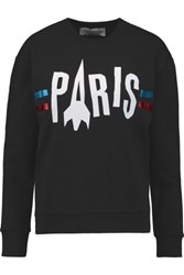 Etre Cecile Printed Cotton Jersey Sweatshirt Black