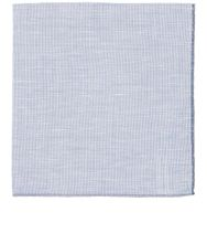 Simonnot Godard Men's Slub Weave Pocket Square Blue
