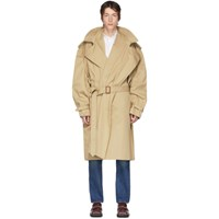 Y Project Beige Infinity Trench Coat