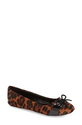 Kenneth Cole Reaction 'Truth Time' Flat Women Leopard Calf Hair