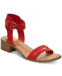 0d7f7fb4942 American Rag Alecta Ankle Strap Sandals Created For Macy s Women s Shoes  Red Coral