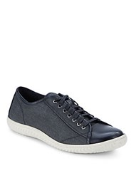 John Varvatos Hattan Canvas And Leather Sneakers Birch