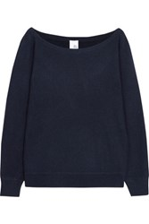 Iris And Ink Off The Shoulder Cashmere Sweater Navy