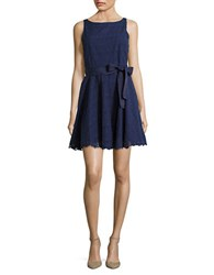 Bb Dakota Cutout Flared Dress Navy