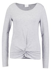 Vila Vikitta Long Sleeved Top Light Grey Melange Mottled Light Grey