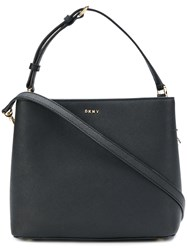 Donna Karan Mini Bucket Shoulder Bag Black