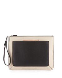 Time's Arrow Ishi Colorblock Leather Wristlet Black