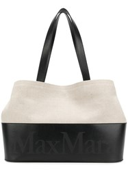 Max Mara Printed Logo Shopping Bag Black
