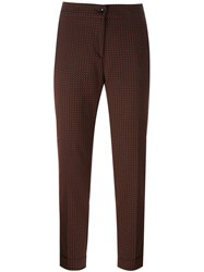 Etro Geometric Pattern Cigarette Trousers Red