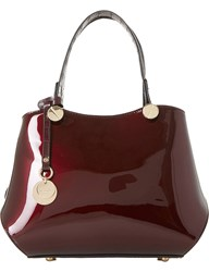 Dune Dinidimogen Patent Faux Leather Handbag Berry Patent