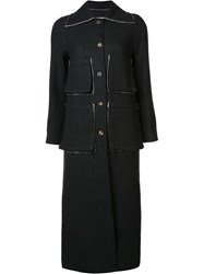 Song For The Mute Striped Coat Black