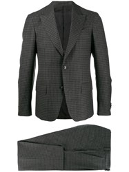 Z Zegna Plaid Single Breasted Suit Silver