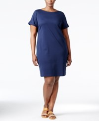 Karen Scott Plus Size T Shirt Dress Only At Macy's Intrepid Blue