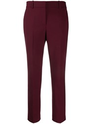 Theory Jetted Crop Trousers Red