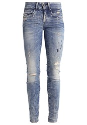G Star Gstar Midge Cody Mid Skinny Slim Fit Jeans Gavi Superstretch Destroyed Denim