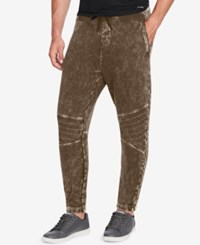 William Rast Men's Lewis Relaxed Fit Joggers Olive