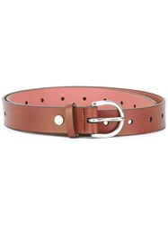 Paul Smith Ps By Punch Hole Buckled Belt Women Leather 90 Brown