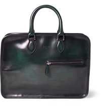 Berluti Un Jour Venezia Leather Briefcase Green
