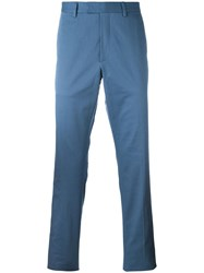 Gucci Stretch Gabardine Chino Trousers Blue