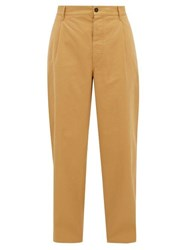 Raey Cotton Twill Utility Trousers Brown