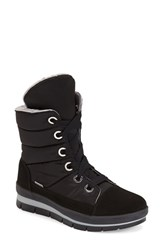 Women's Jog Dog Waterproof Channel Quilted Lace Up Sneaker Boot 1 3 4' Heel