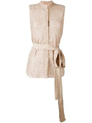 N 21 No21 Oversized Strap Sleeveless Blouse Nude Neutrals